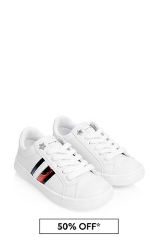Girls White Star Trainers