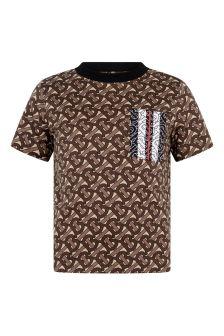 Boys Brown Bridle Cotton T-Shirt