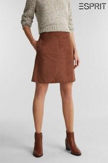 Esprit Brown Woven Mini Skirt
