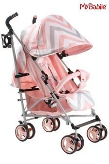 My Babiie Pink Chevron Stroller