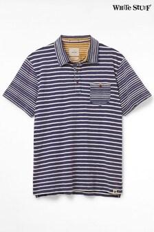White Stuff Navy Bronsea Stripe Poloshirt