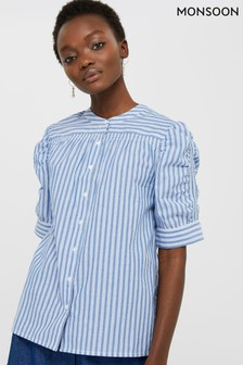 Monsoon Blue Tessa Stripe Top