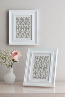 Set of 2 White Hampton Frame