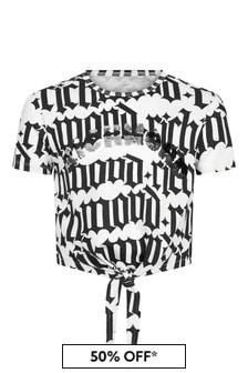 John Richmond Girls White Cotton T-Shirt