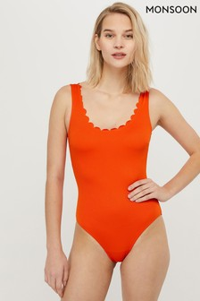 Monsoon Orange Valeria Scallop Swimsuit