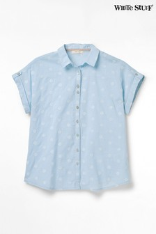 White Stuff Blue Emi Spot Shirt