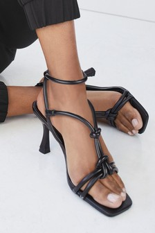 Knotted Tube High Sandals