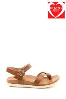 Heavenly Feet River Ladies Tan Toe Loop Sandals