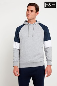 F&F Grey Oh Colourblock Hoody Sweater