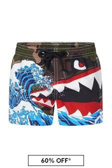 MC2 Saint Barth Boys Khaki Swim Shorts