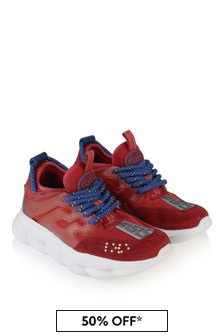 Boys Red Chain Reaction Trainers