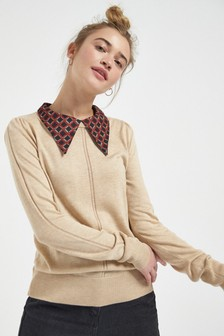 Collar Detail Layer Jumper