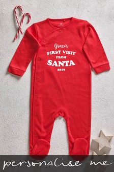 Personalised First Visit From Santa Sleepsuit