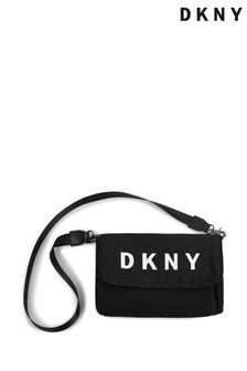 DKNY Black Logo Shoulder Bag
