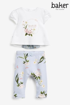 Baker by Ted Baker Pleat Detail Top And Leggings Set