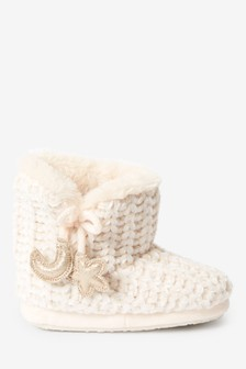 Chenille Slipper Boots (Younger)