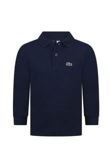 Lacoste Kids Boys Navy Pique Cotton Poloshirt