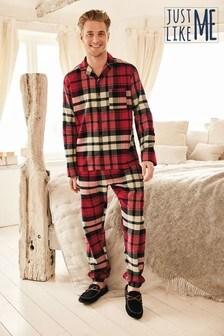 Matching Family Mens Check Pyjamas