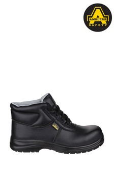 Amblers Safety Black FS663 Metal-Free Water-Resistant Lace-Up Safety Boots