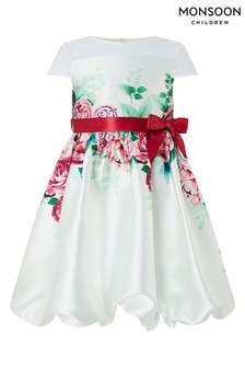Monsoon Heidi Ivory Puffball Dress