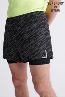 Superdry Training Lightweight Reflective Shorts