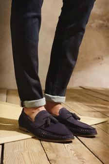 Tassel Weave Loafers