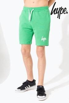 Hype. Green Hype Script Kids Shorts