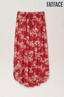 FatFace Red Sienna Flamingo Midi Skirt