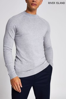 River Island Grey Turtle Neck Jumper