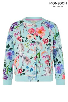 Monsoon Blue Armelle Unicorn Bomber Jacket