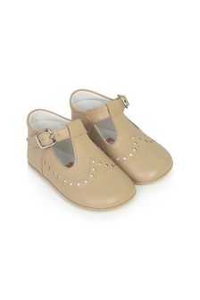 Andanines Baby Girls Beige Leather Shoes