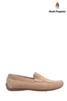 Hush Puppies Cream Roscoe Slip-On Shoes