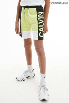 Calvin Klein Jeans Yellow Colourblock Jogger Shorts