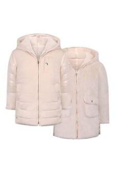 Girls Pink Reversible Jacket