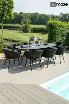 Ambition 8 Seat Oval Dining Set By Maze Rattan