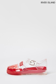 River Island Red Ombre Jelly Sandals