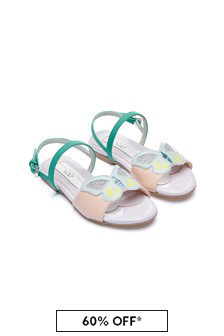 Stella McCartney Kids Girls Purple Sandals