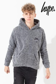Hype. Grey Kids Pullover Sherpa Hoody