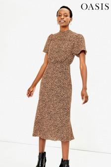 Oasis Animal Leopard Midi Dress