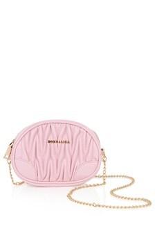 Girls Pink Faux Leather Shoulder Bag