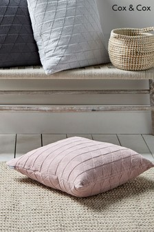 Cox & Cox Washed Soft Cotton Geo Cushion
