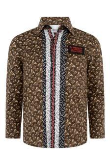Burberry Boys Brown Bridle Cotton Shirt