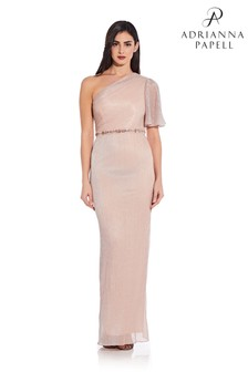 Adrianna Papell Glitter Knit Column Gown
