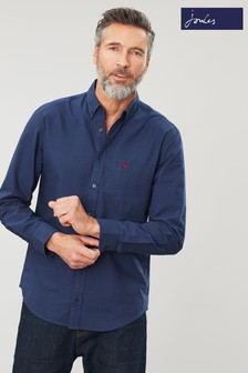Joules Blue The Classic Laundered Oxford Check Shirt