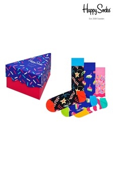 Happy Socks Birthday Playing Three Pack Gift Box