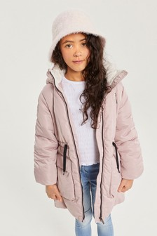 Shower Resistant Satin Finish Padded Jacket (3-16yrs)