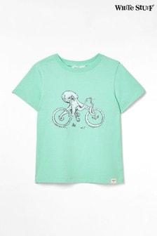 White Stuff Green Kids Octobike Jersey T-Shirt