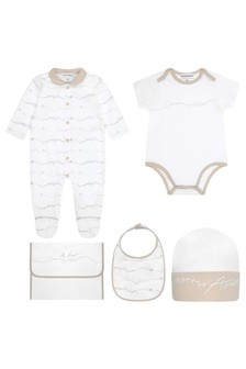 Baby Beige/White Cotton Gift Set