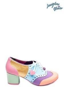 Irregular Choice Pink Clara Bow Lace Up Shoes