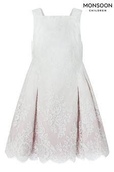 Monsoon Pink Victoria Ombre Lace Dress
